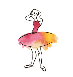 Hand drawing ballerina figure vector