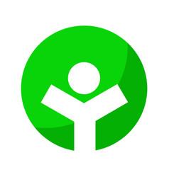 Healthy life green circle symbol graphic design vector