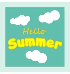 Hello Summer summer background Summer fun vector