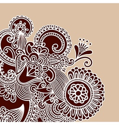 Henna Doodle Design Element vector image