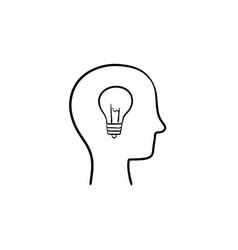 idea hand drawn sketch icon vector image