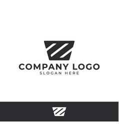 letter z logo design template vector image