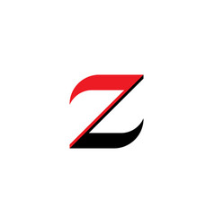 logo z letter red black icon element vector image