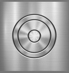metal technology background vector image