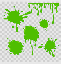 Paint drop abstract green slime vector