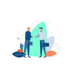 Partnership agreement negotiation business vector