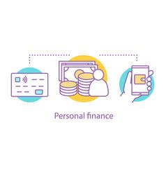 personal finance concept icon vector image