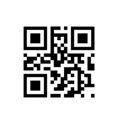 QR code sample for smartphone scanning vector