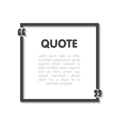quote bubble blank templates empty business card vector image