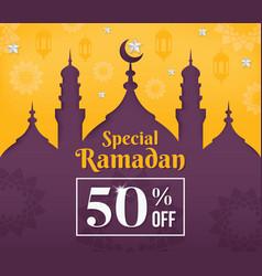 ramadan kareem poster sale vector image