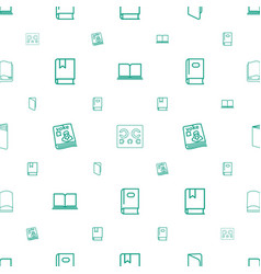 read icons pattern seamless white background vector image