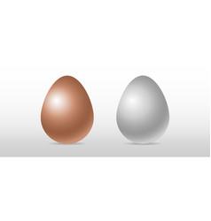 realistic three-dimensional egg vector image