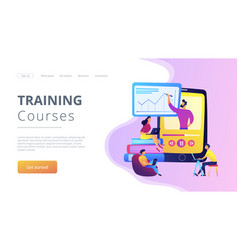 recorded classes concept landing page vector image