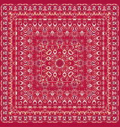 red colored handkerchief vector image