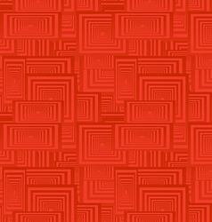 Red seamless rectangle pattern background vector