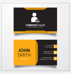 Remove user icon business card template vector