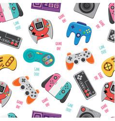 Retro video game controller and joystick seamless vector
