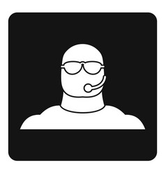 safety guard man icon simple vector image
