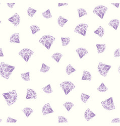 seamless pattern of geometric purple pink diamonds vector image
