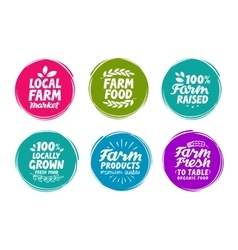Set colorful labels for food nutrition vector