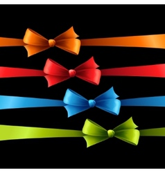 Set of color bow vector image