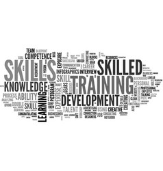 Skilled word cloud concept vector