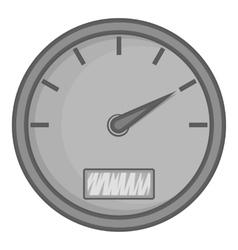 Speedometer icon black monochrome style vector image