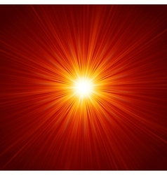 Star burst red and yellow fire EPS 10 vector image vector image