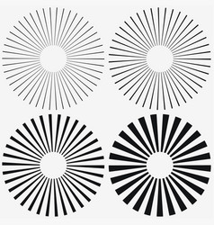 sunburst elements set vector image