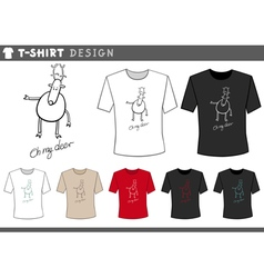 T shirt with cute deer vector