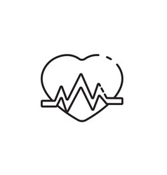Thin line heartbeat icon vector