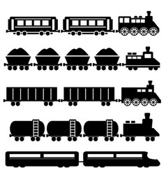 Train and railroads vector