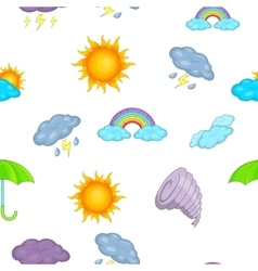 Weather forecast pattern cartoon style vector