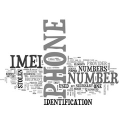 what is imei text word cloud concept vector image