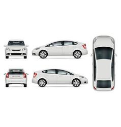 White car mockup vector