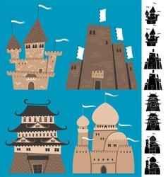 Cartoon Castles vector image vector image