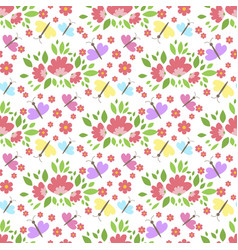 floral pattern seamless background with vector image