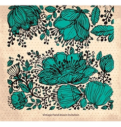 Hand drawn floral card vector image vector image