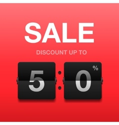 Sale discount poster vector image