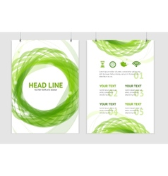 abstract geometric green round brochure vector image vector image