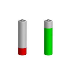 charging batteries in 3d view vector image vector image