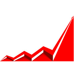 Colored arrow graph goes up vector
