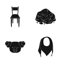 furniture animal and or web icon in black style vector image