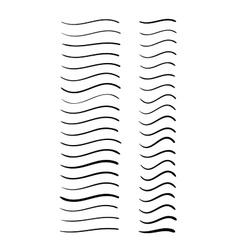 Set of hand-drawn wavy lines vector image vector image