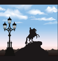 st petersburg cty landmark russia peter the great vector image vector image