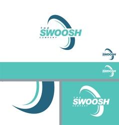 Swoosh Half Abstract Symbol Branding Design Elemen vector image vector image