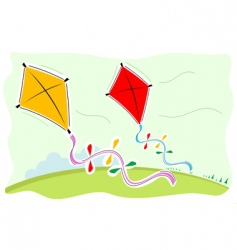 colorful kites vector image