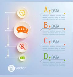 data pictograms conceptual background vector image