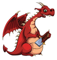 Dragon Loves Chocolate vector image vector image