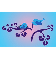 morning in the bird family vector image